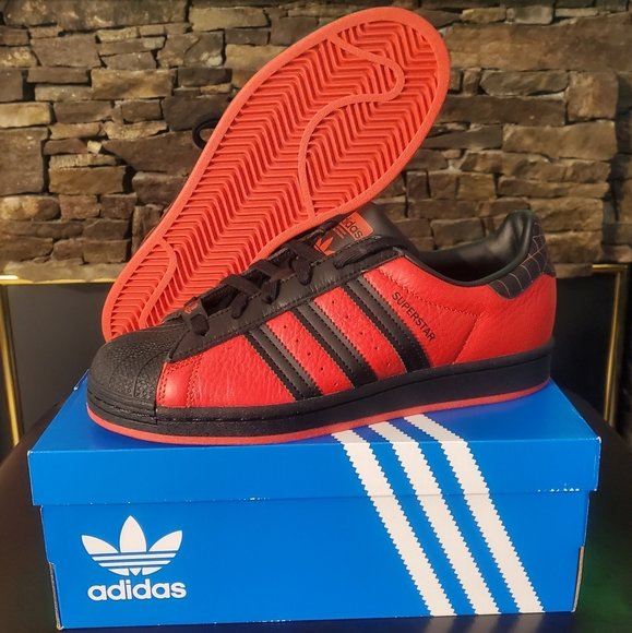 adidas Shoes | Adidas Superstar Spiderman Gs Shoes | Poshmark